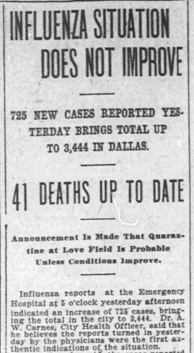 On Oct. 12, 1918, The News reported the number of flu cases spiked to more than 3,000 — 20 times the figure that had been reported just nine days earlier.