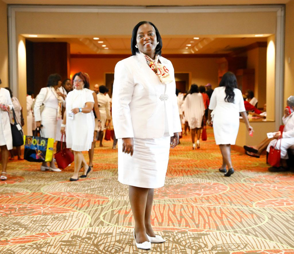 Delta Sigma Theta Sorority, Inc. Southwest Regional Director Pamela Moore Rogers is pictured during a regional conference held at the Sheraton Dallas Hotel, Friday, July 20, 2018. (Tom Fox/The Dallas Morning News)