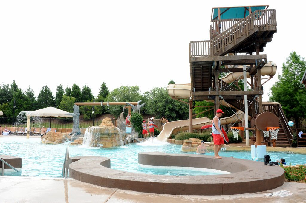 The family lagoon features a 27 foot long water slide and zip line at Paradise Springs at Gaylord Texan in Grapevine, TX on June 12, 2016. (Alexandra Olivia/ Special Contributor)