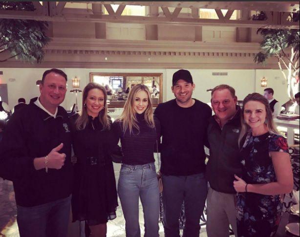 Tony Romo en Hotel Trump. Foto vía Twitter