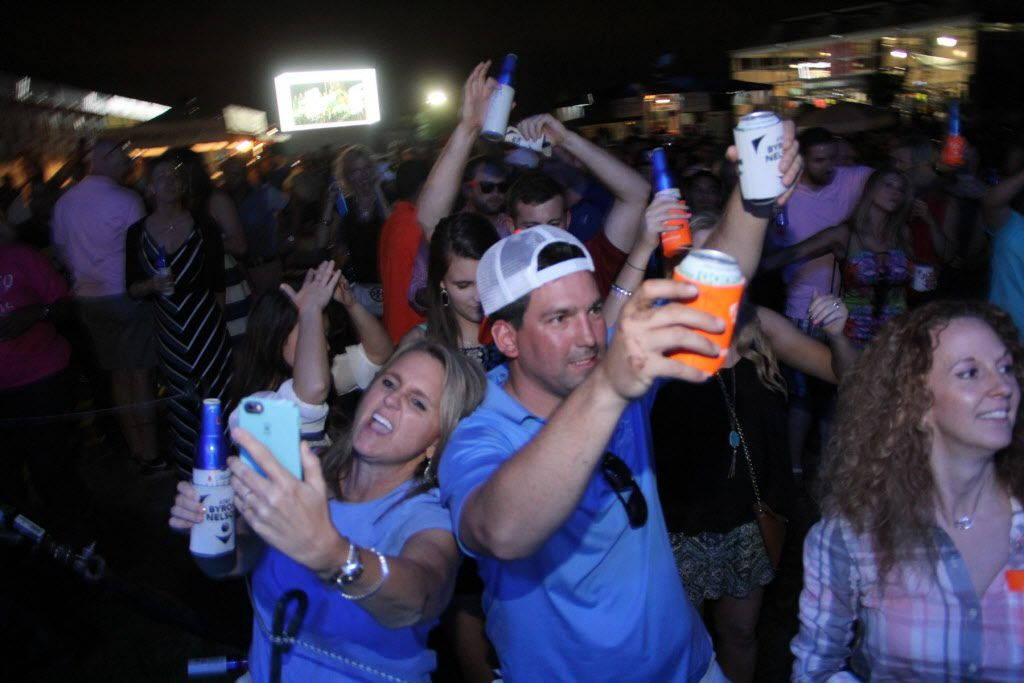 Groups of friends partied at the Le Freak concert after play was finished at the AT&T Byron Nelson on May 30, 2015.