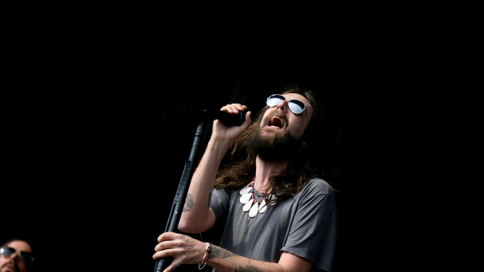 Chris Robinson of the Black Crowes performed during the Rothbury music festival in Rothbury, Mich., on July 4, 2009.