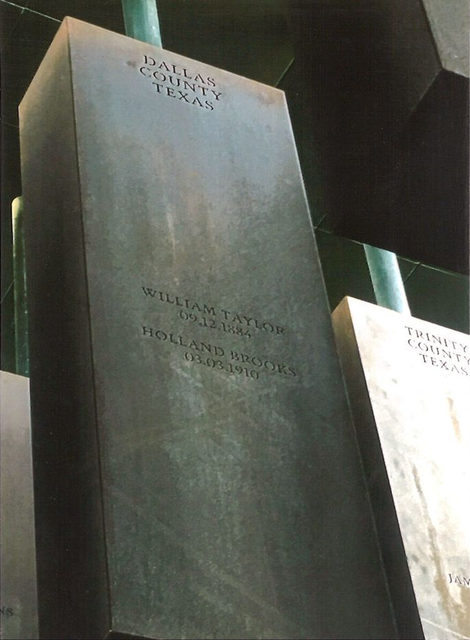 The names of Dallas County lynching victims are memorialized at the National Memorial for Peace and Justice in Montgomery, Ala.