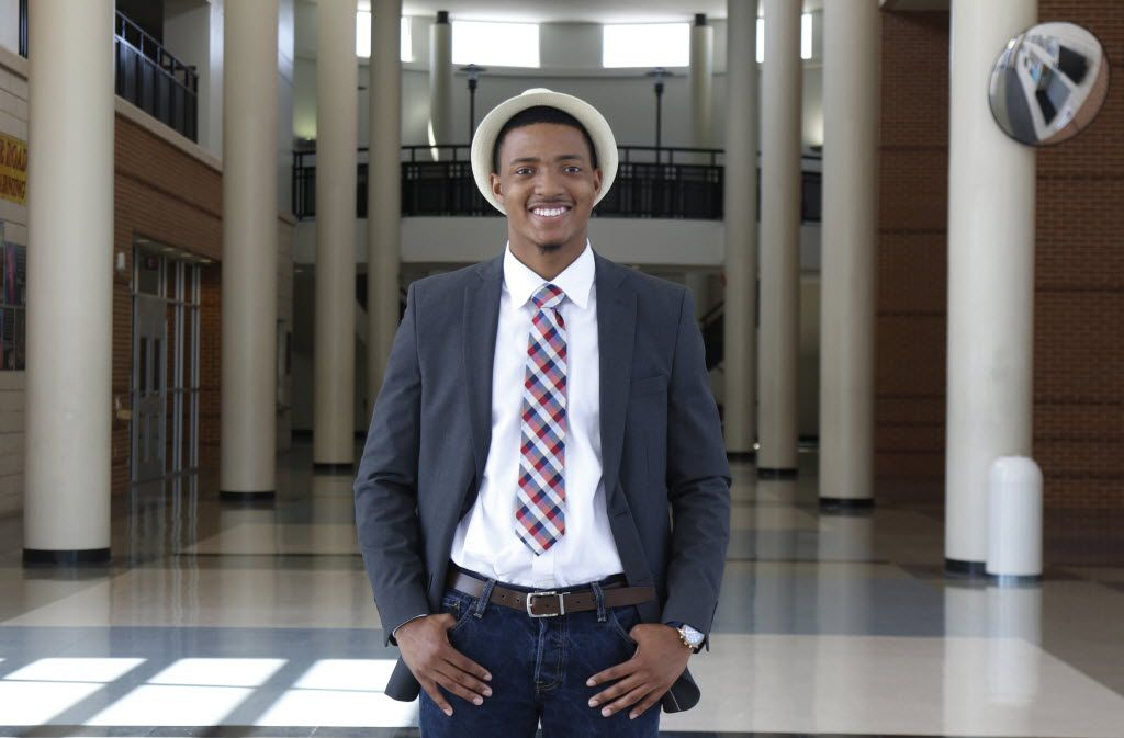 Darius Brown, 18, graduated from Lancaster High School recently and is the first from the campus to receive the Gates Millennium Scholars award, which will pay for college through a doctorate degree. He will attend Texas A&M University in the fall.