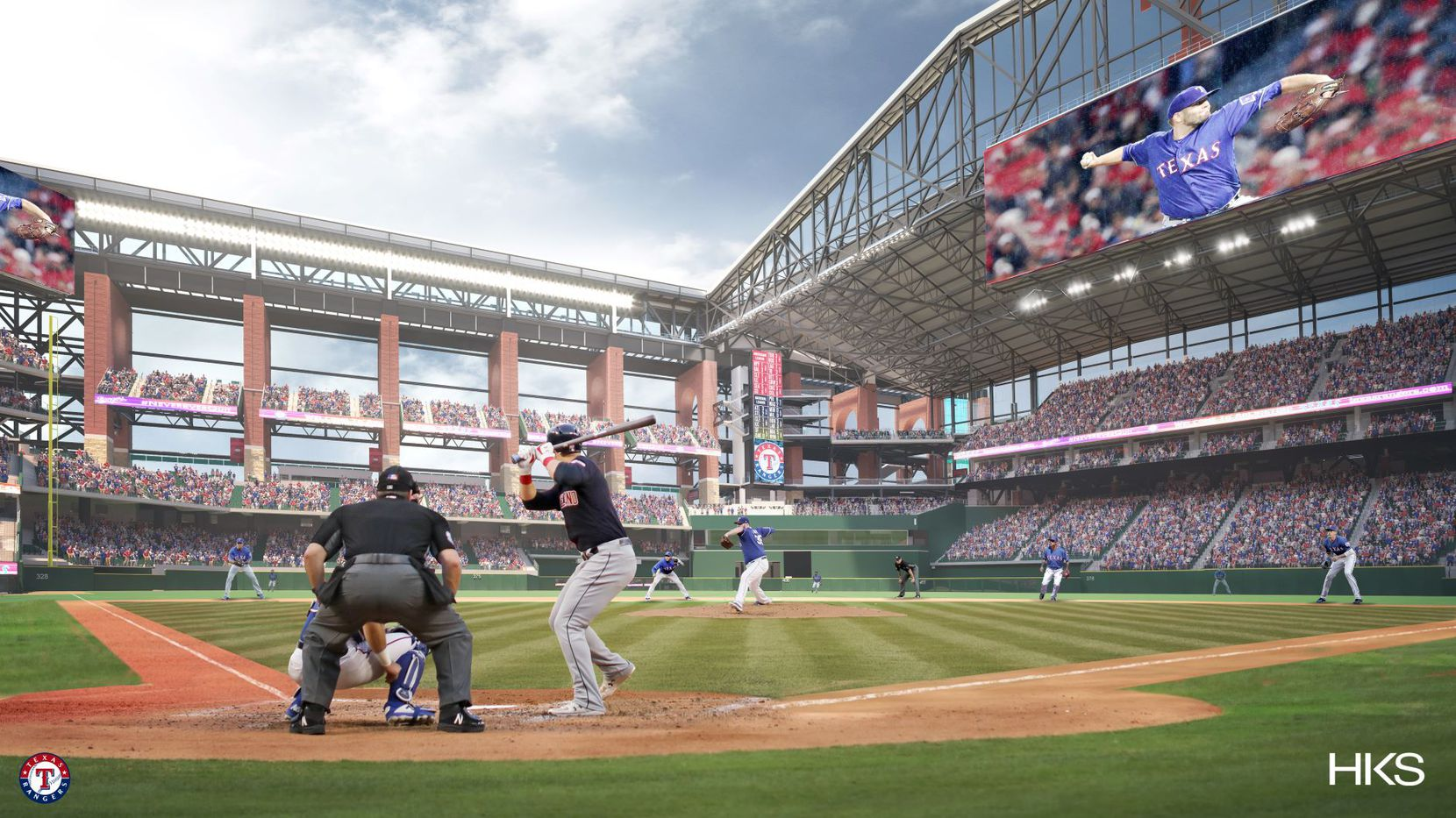 A new rendering of Globe Life Field.