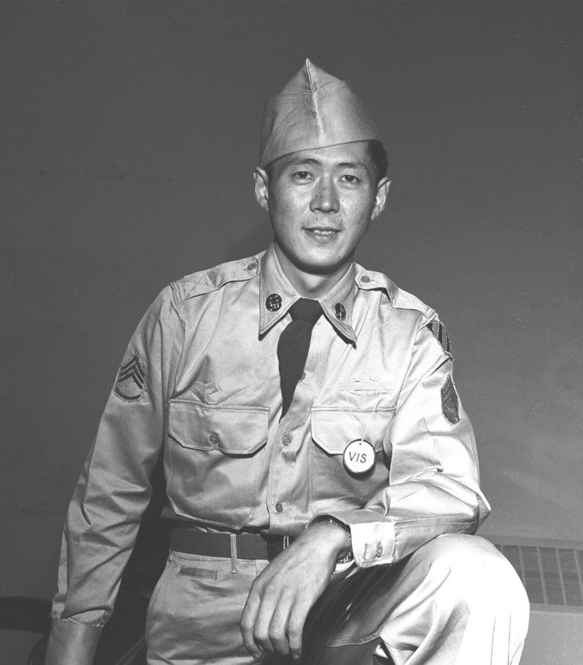 Army Staff Sgt. Hiroshi H. Miyamura, Medal of Honor recipient for valor in combat near Taejon-ni, South Korea, April 24, 1951, while serving with Company H, 7th Infantry Regiment, 3rd Infantry Division. Photo courtesy National Archives. (Department of Defense)