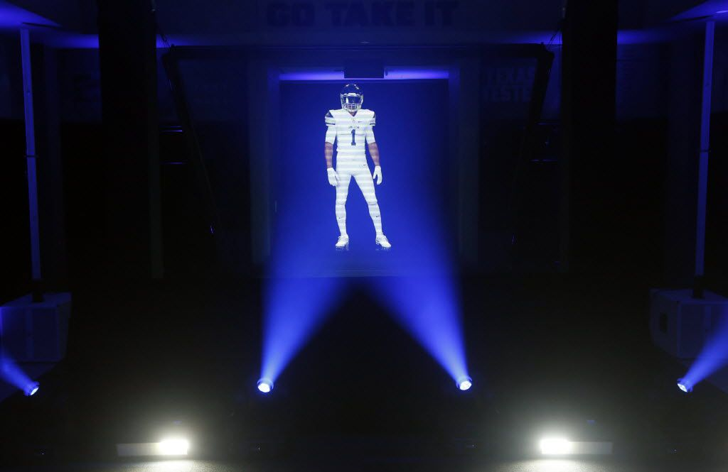 The company behind this hologram in the high school locker room at The Star in Frisco is looking to expand through connections in sports.