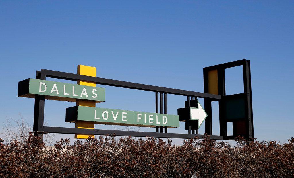 Dallas Love Field sign off of Mockingbird Lane in Dallas