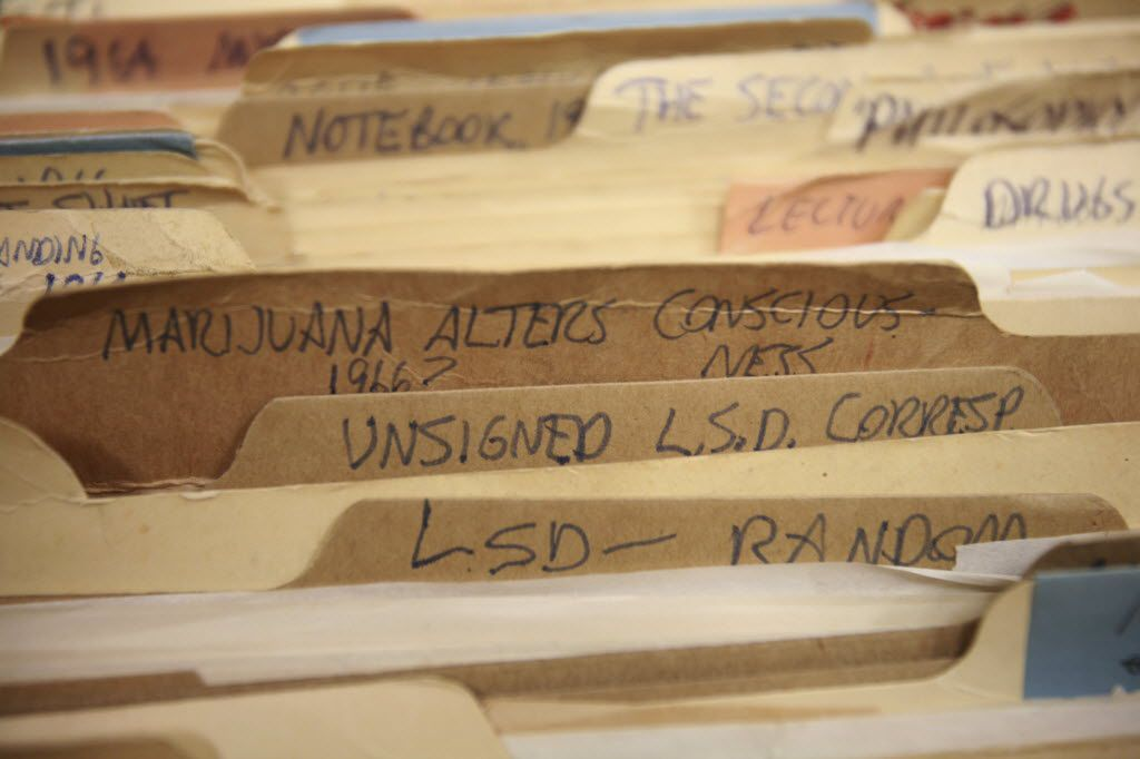 Files that kept records of drug-induced trips, from a collection belonging to Harvard psychologist and psychedelic explorer Timothy Leary, were purchased by the New York Public Library in 2011.