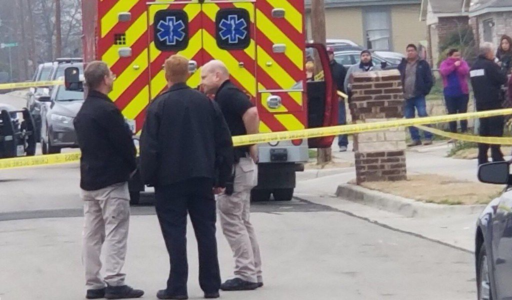 Grand Prairie police investigate a murder-suicide in the 2100 block of Spikes Street early Saturday.