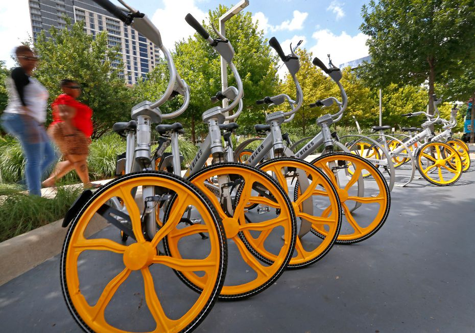 VBikes was the first bike-share company to do business in Dallas. Now, it faces new competition. (Jae S. Lee/The Dallas Morning News)