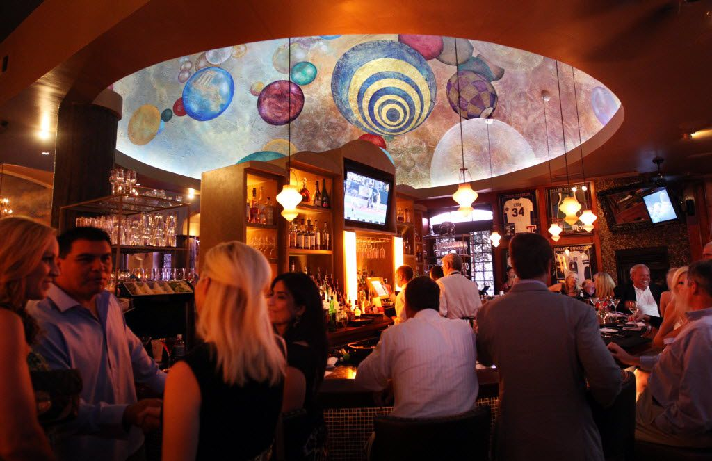 A bar view of Al Biernat's restaurant.
