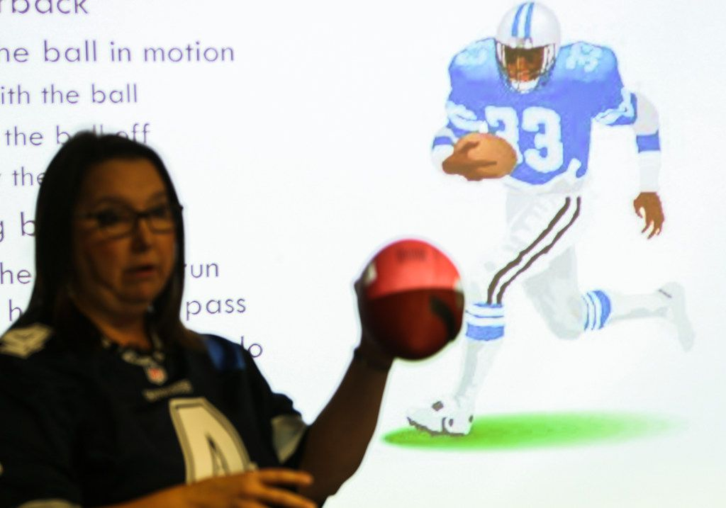 The workshop covered various football rules, the different player positions, Super Bowl food and etiquette during the most popular feature of the game for some fans: the commercials.