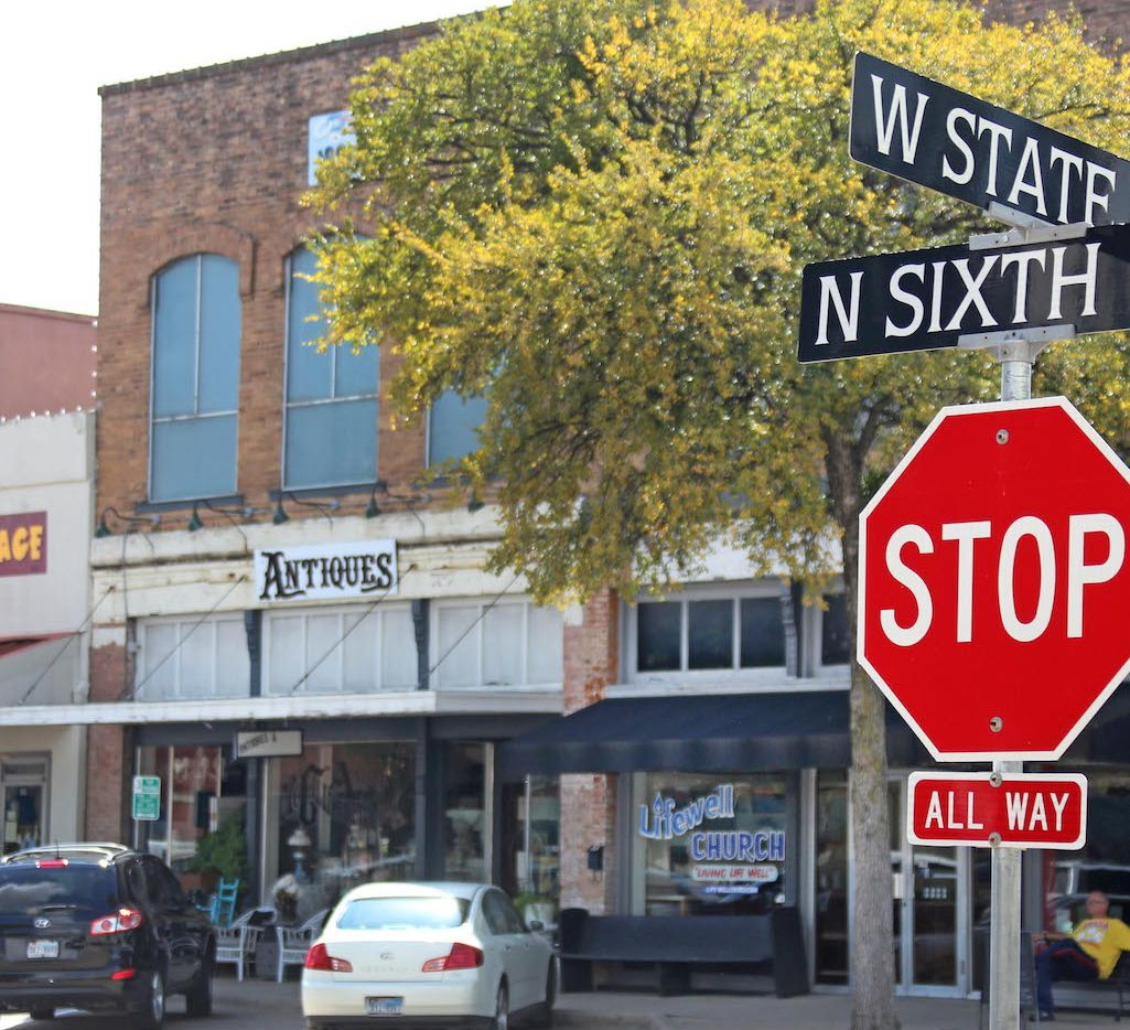 Historic downtown Garland square
