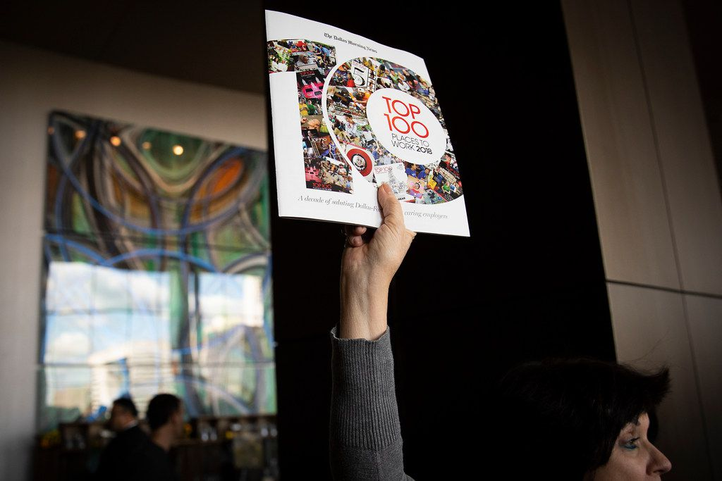 Copies of the 2018 Dallas Morning News Top 100 magazine were handed out at the conclusion of the annual luncheon at the Omni Dallas Hotel on Nov. 2.