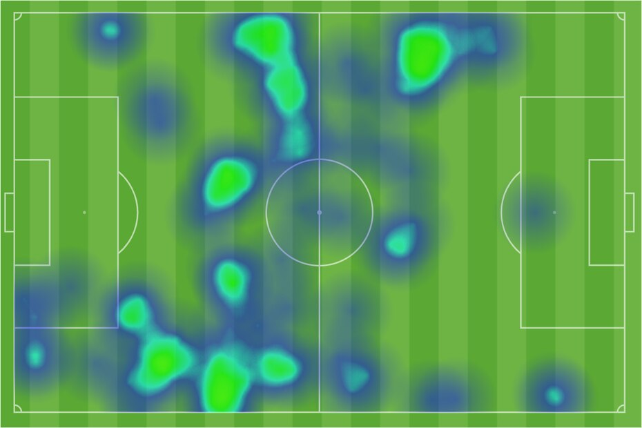 Arturo Rodriguez heat map against Lansing