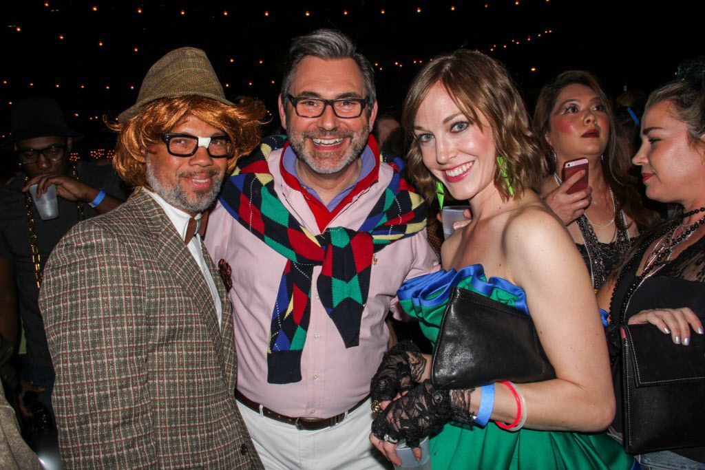 Jack Son, Ken Weber and Bridget Sommerlatte attended     the #TBT to the '80s party on Thursday at the Rustic.