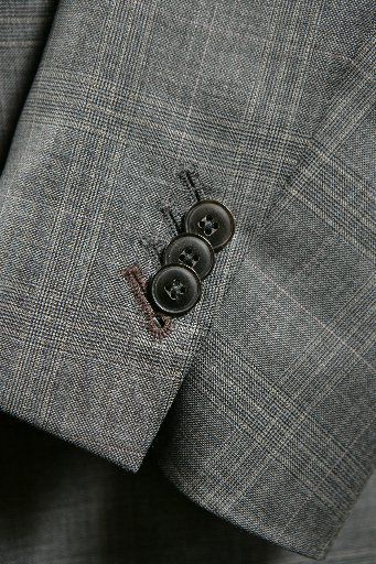 ORG XMIT: *S0426184834* 03-27-09 --- Detail from a suit tailored for Patrick Webster at Bachrach, NorthPark Center. (Evans Caglage/The Dallas Morning News) 05072009xLUXE