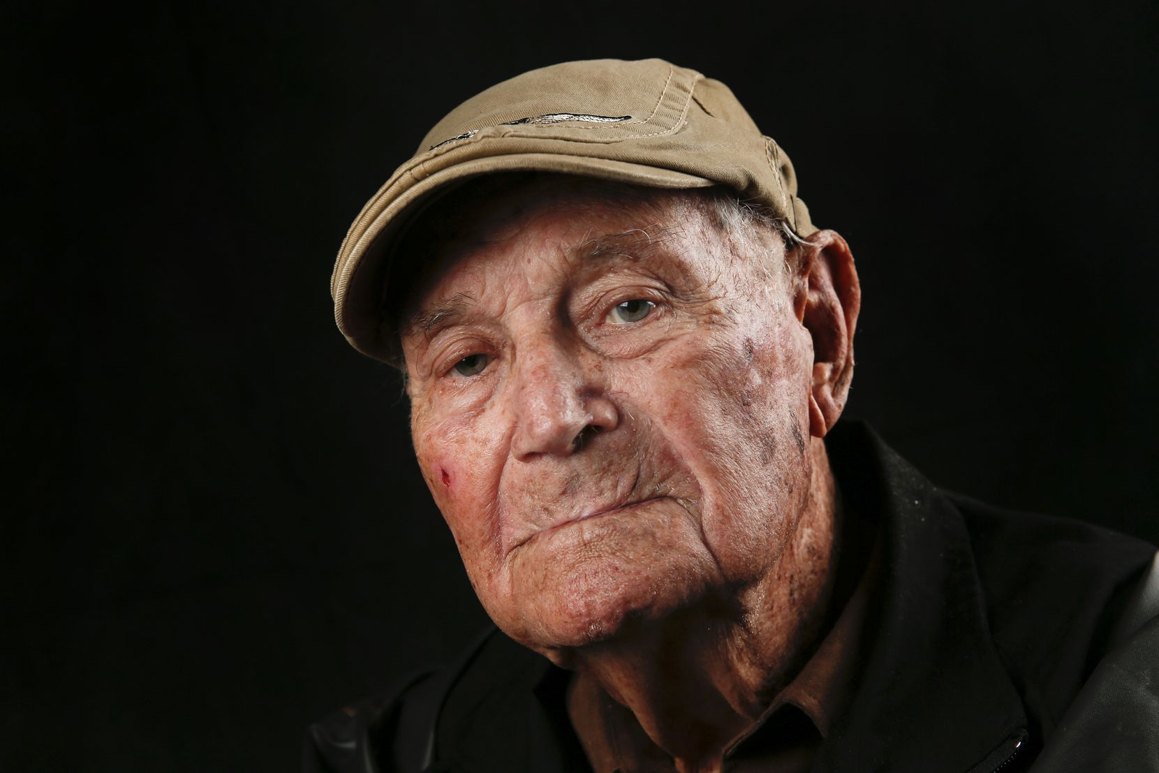 Jack Ogilvie, 96, of Dallas, who served as a P-39 Airacobra and P-47 Thunderbolt pilot in World War II, is photographed during the Wings Over Dallas Airshow on Saturday, Oct. 26, 2019 in Dallas.