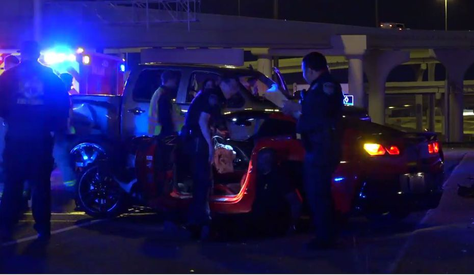 An image from footage captured at the scene by Metro Video Dallas/Fort Worth.