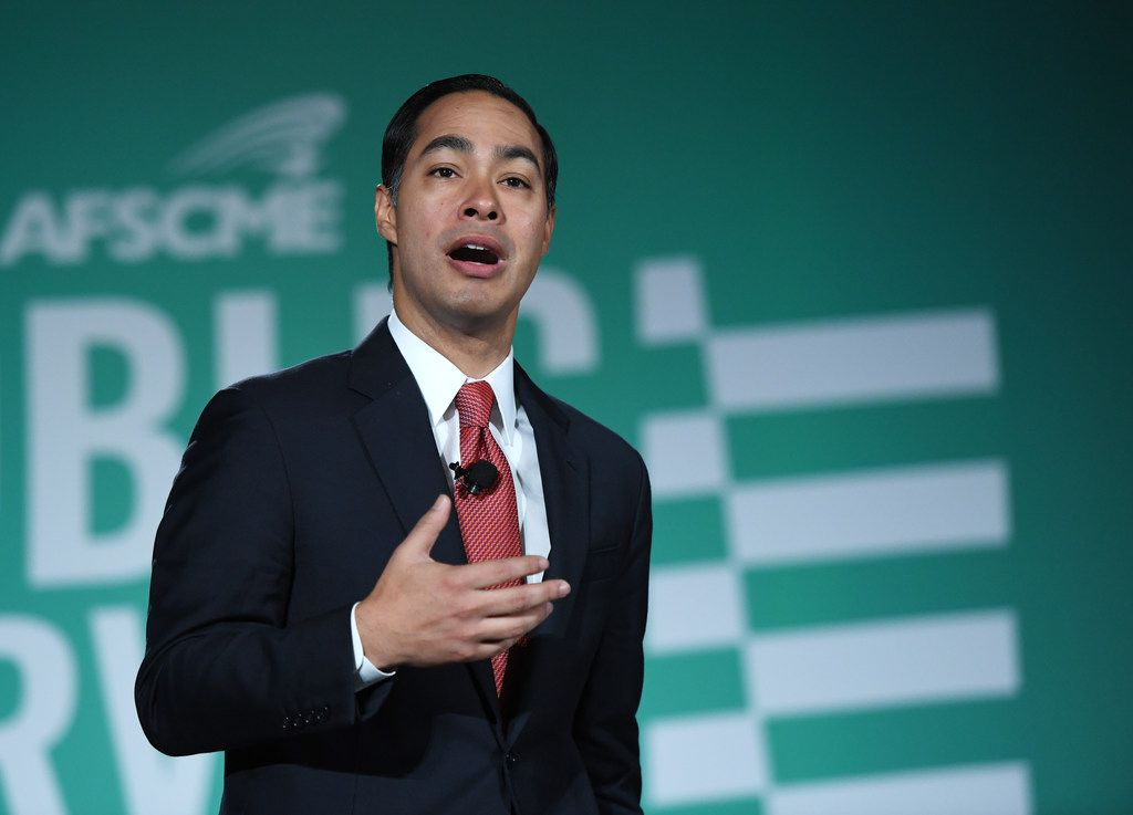 Democratic presidential candidate Julian Castro speaks during the 2020 Public Service Forum hosted by the American Federation of State, County and Municipal Employees (AFSCME) at UNLV on August 3, 2019 in Las Vegas, Nevada.
