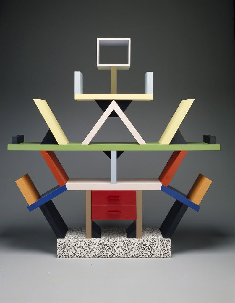 """The """"Carlton"""" room divider, designed in 1981 by Ettore Sottsass, has been featured in the former modern and contemporary design gallery at the Dallas Museum of Art."""