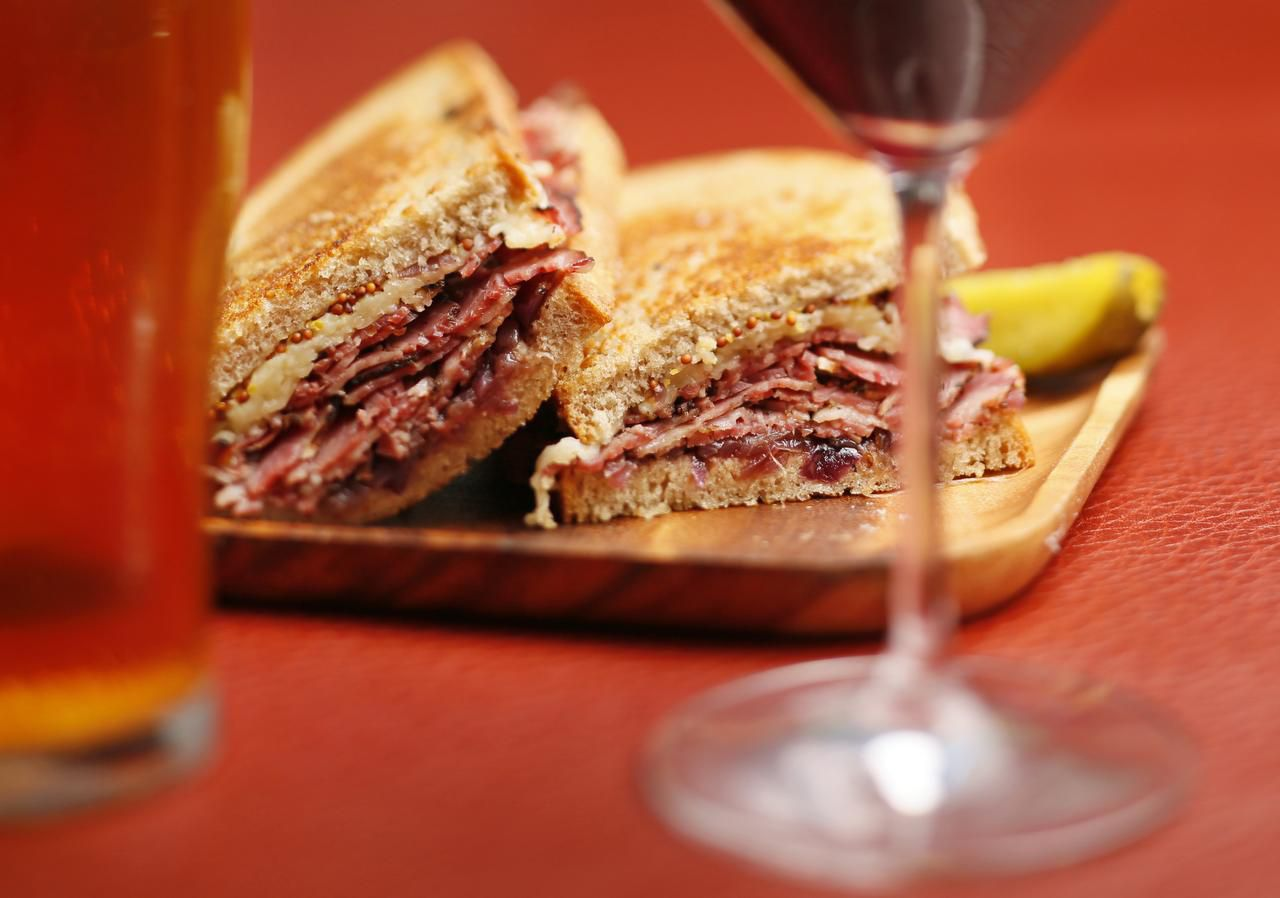 The wine panel found five wines and four beers that made good matches for this pastrami sandwich. Click the related link to read about them.