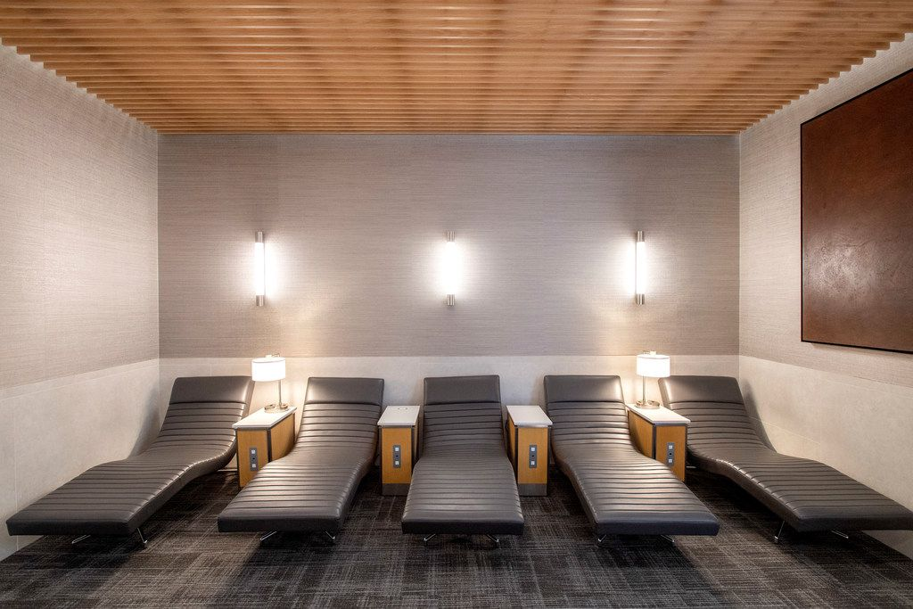 A quiet rest area is available in the new American Airlines Flagship Lounge on Monday, May 13, 2019 in Terminal D at DFW Airport in Grapevine, Texas. (Jeffrey McWhorter/Special Contributor)