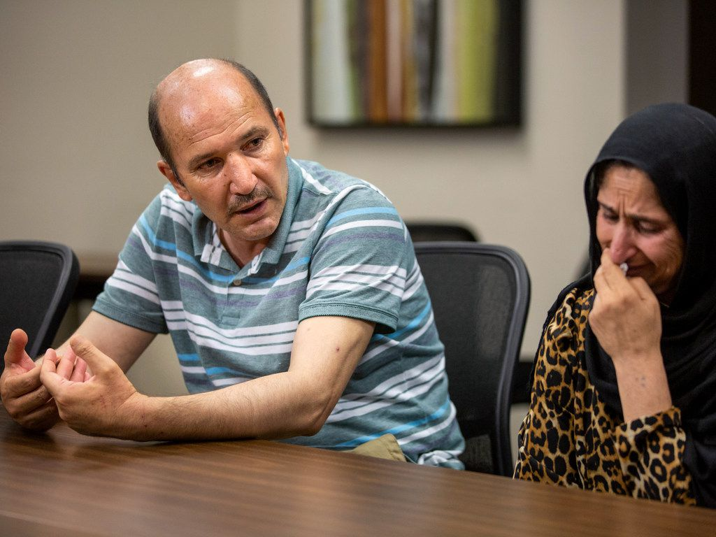 The parents of Mahir Ahmad Amiri, Shir Mohammad Amiri, left, and Farzana Amiri, thought their son would be safe in Dallas. They were wrong.