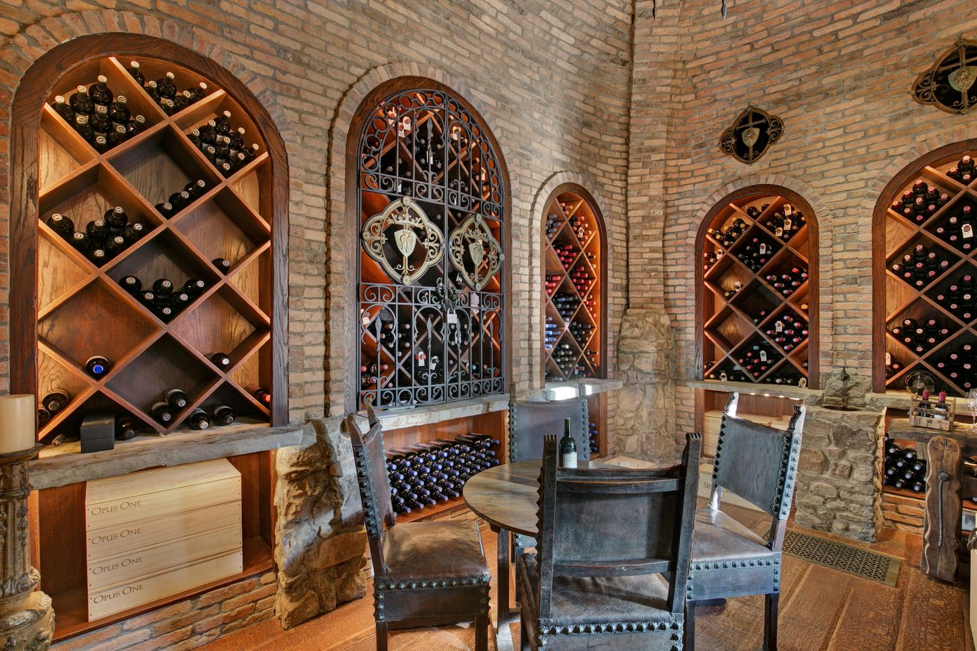 The wine grotto in the Strait Lane house.