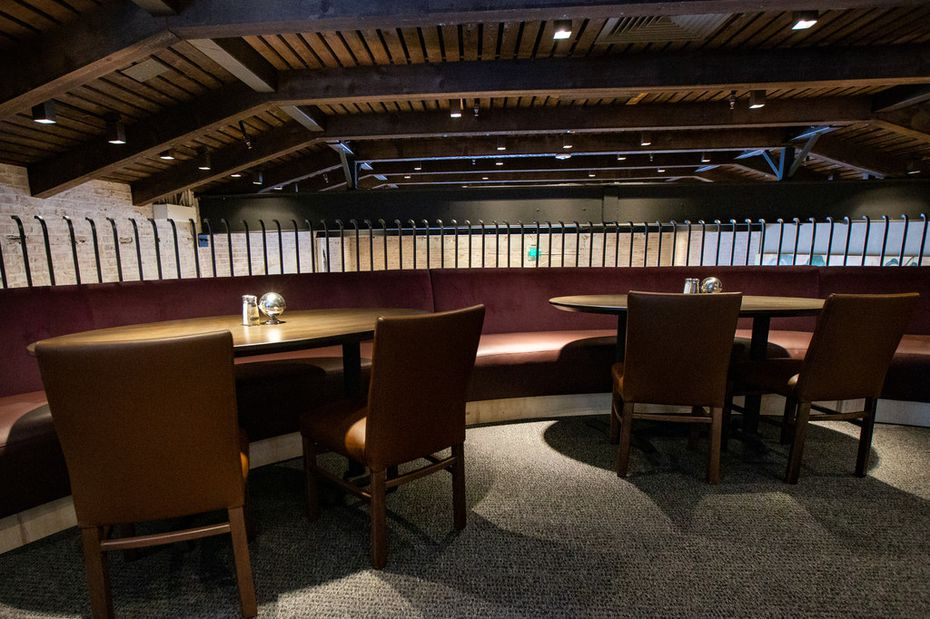 Mi Cocina in Highland Park still has a second floor, with a section that juts out over the first floor. With this renovation, the second floor feels more secluded.