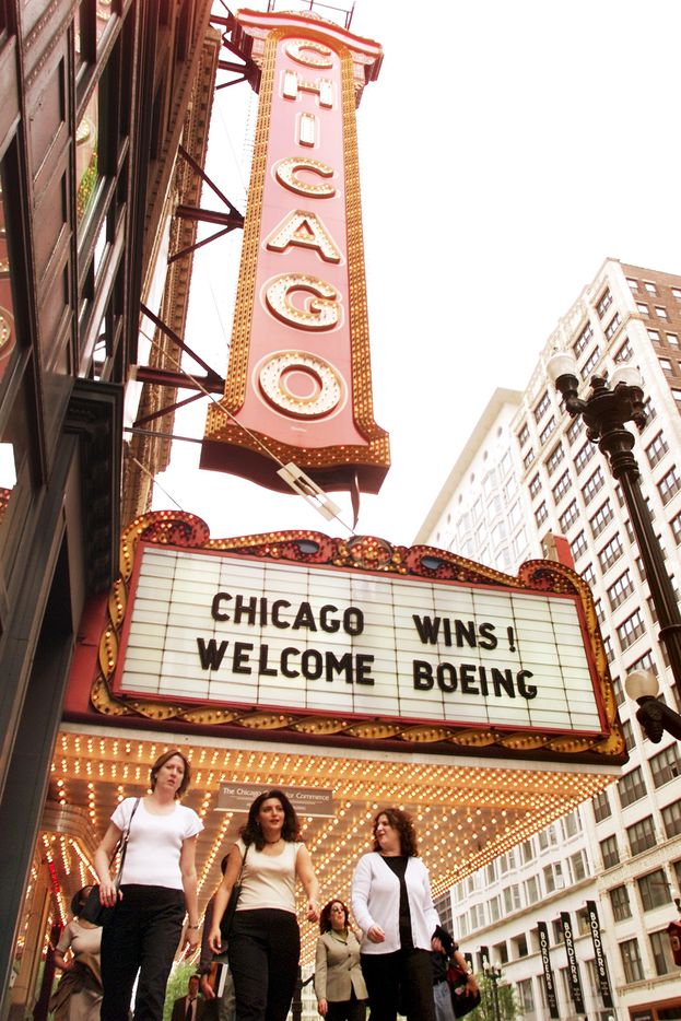 In 2001, they celebrated in Chicago when Boeing picked the Windy City over Big D for its new headquarters. (File Photo/The Associated Press)