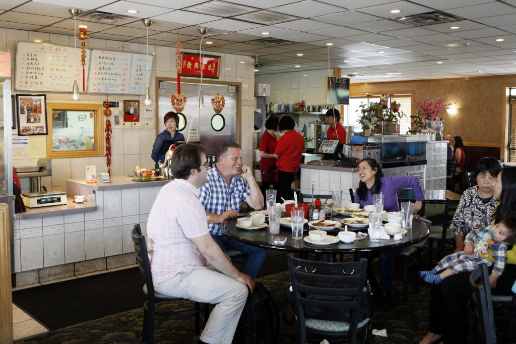 King Chinese BBQ's unassuming dining room