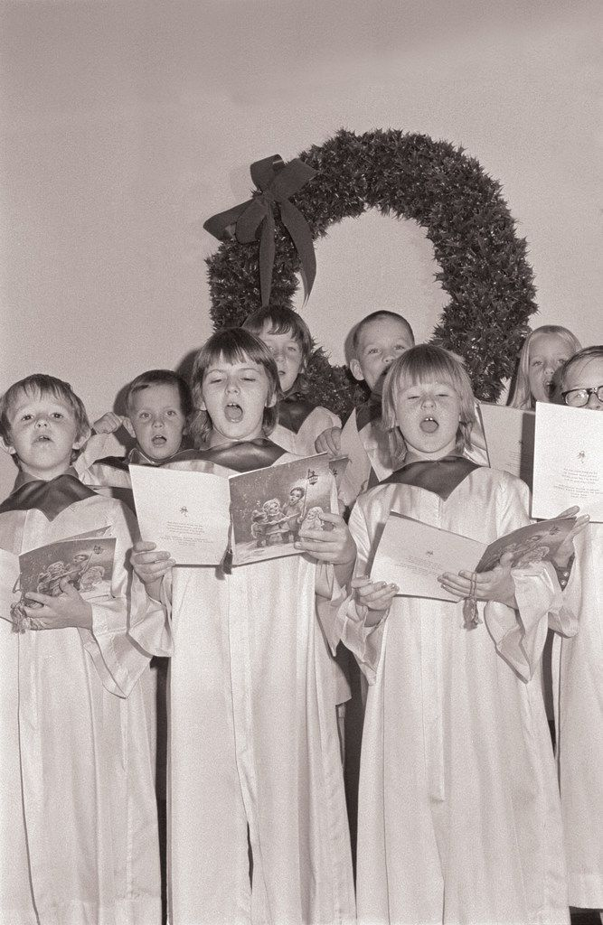 In this undated photo, a choir at Buckner Orphans Home in Dallas sings during a Christmas season gathering.