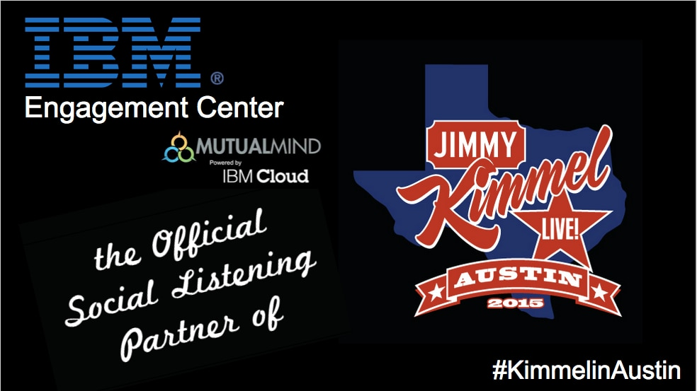 Addison-based MutualMind is providing the social listening tool for the Jimmy Kimmel show which is airingthis week from South by Southwest in Austin.