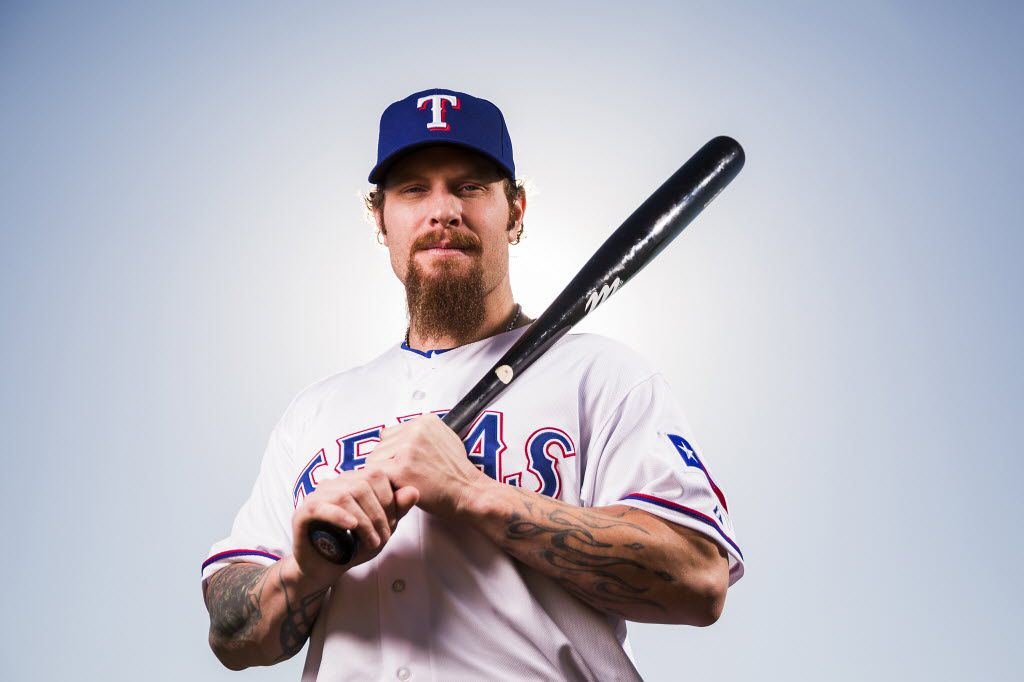 """Texas Rangers outfielder Josh Hamilton, at spring training in Surprise, Ariz., says, """"The experience of getting too excited, pushing too hard and having setbacks has helped me settle down and stay with the plan."""""""