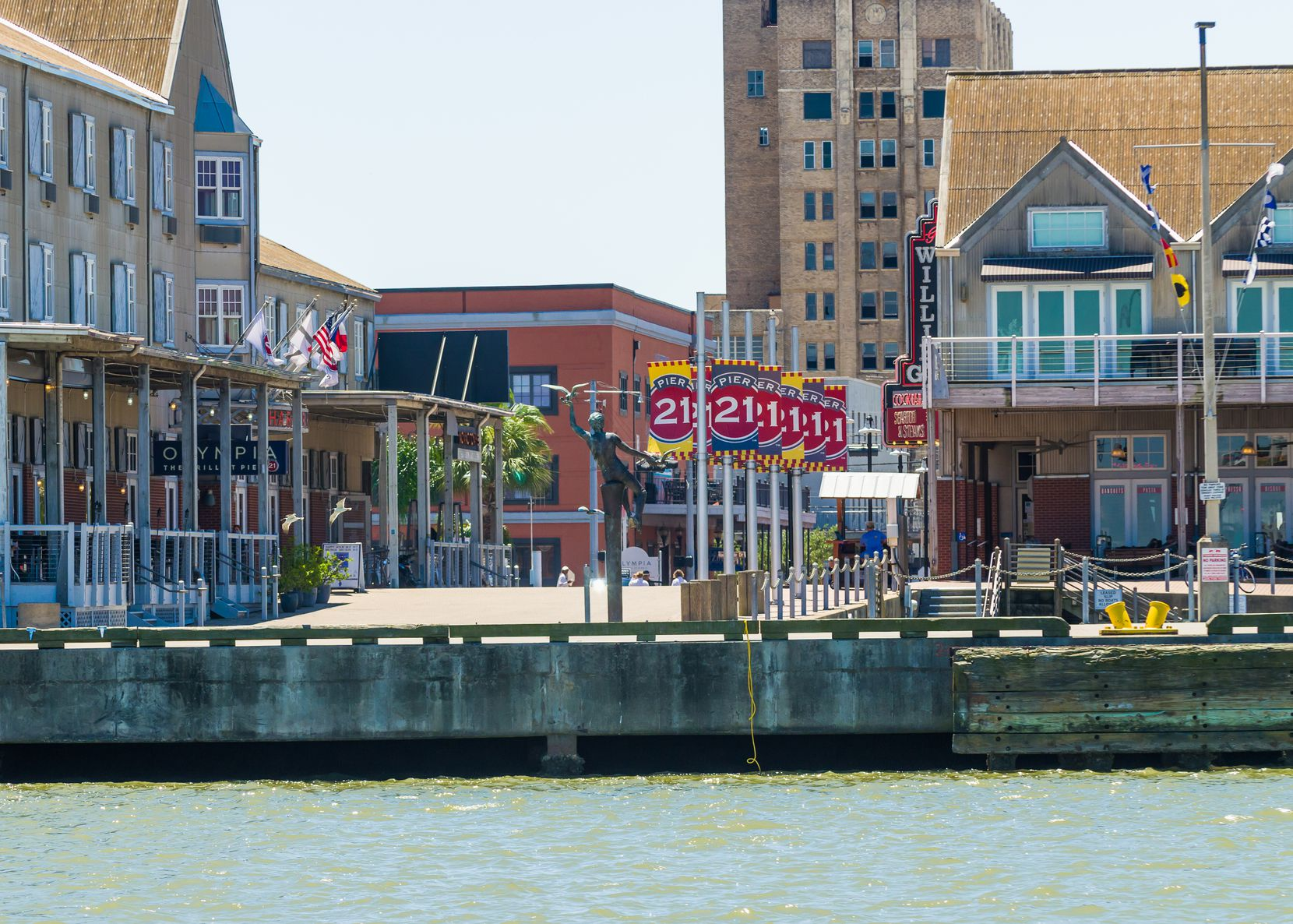 Pier 21 is one of Galveston's popular tourist areas.