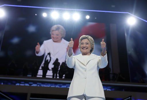 Hillary Clinton durante su discurso la noche del jueves en  el que prometió  impulsar una reforma migratoria.