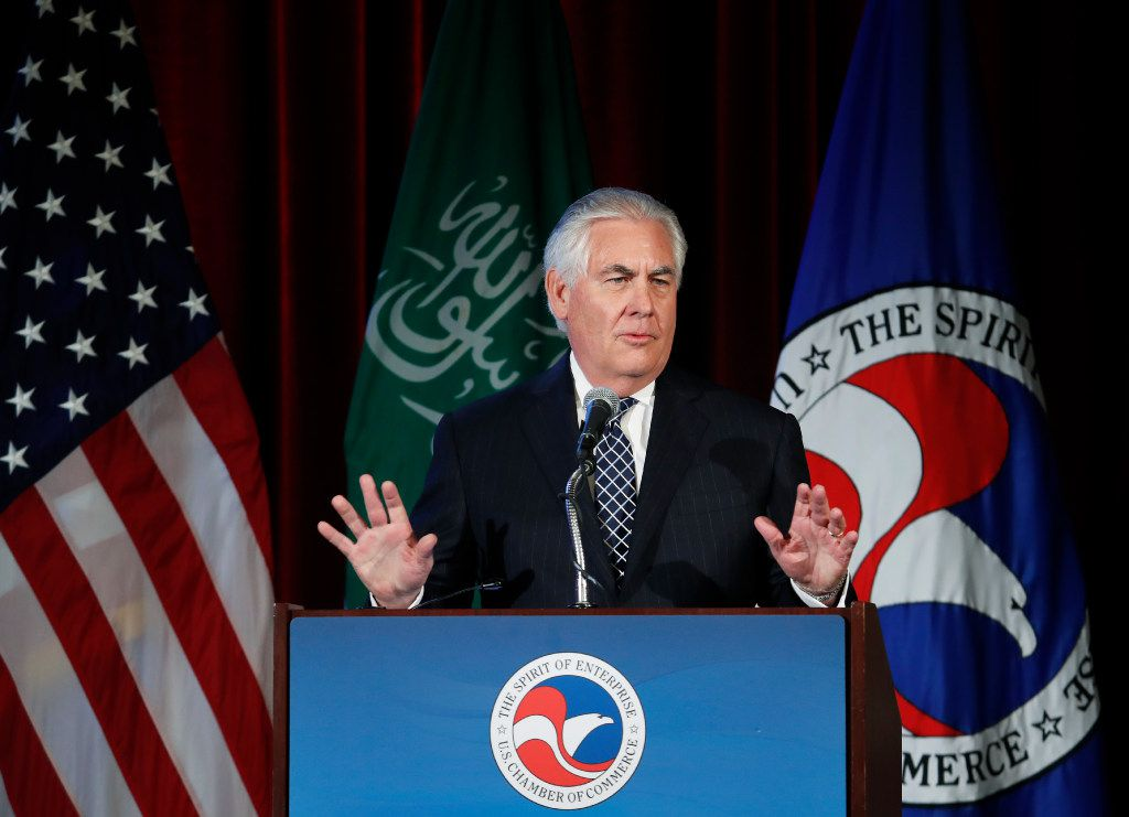 Secretary of State Rex Tillerson is the former chief executive of Exxon Mobil, the Irving-based oil giant that gave $500,000 to Trump's inauguration. (AP Photo/Manuel Balce Ceneta)