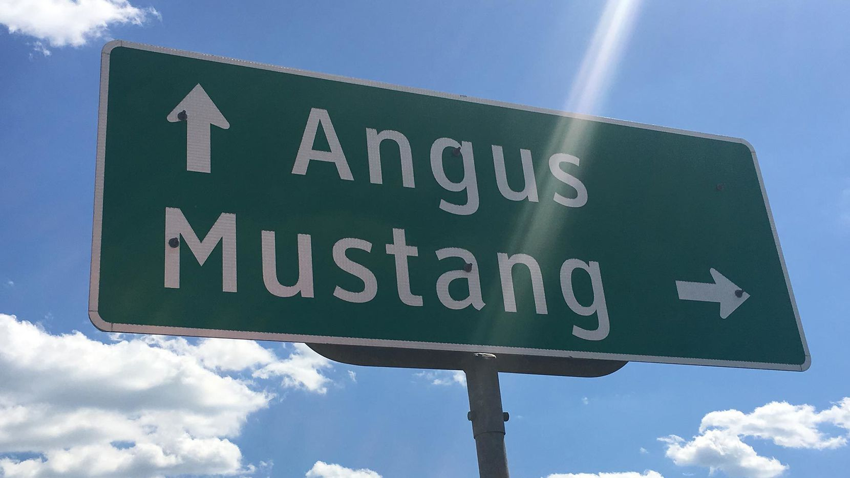 The town of Mustang that's for sale is 55 miles south of Dallas near Corsicana.