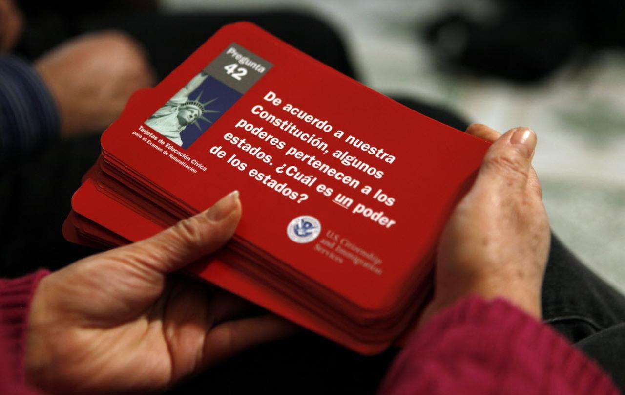 Una de las preguntas incluída en el examen para solicitar la ciudadanía.(AL DIA)