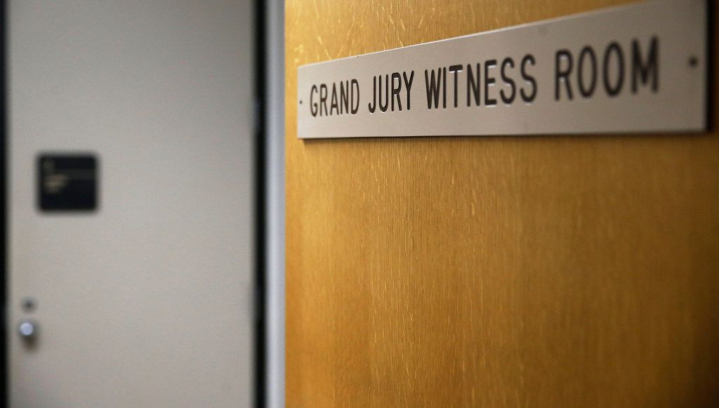 Grand jurors hear testimony in various witness rooms of the Frank Crowley Courts Building in Dallas. On Wednesday a grand jury reconvened to take up the case against Amber Guyger, the former Dallas officer who shot and killed Botham Jean.