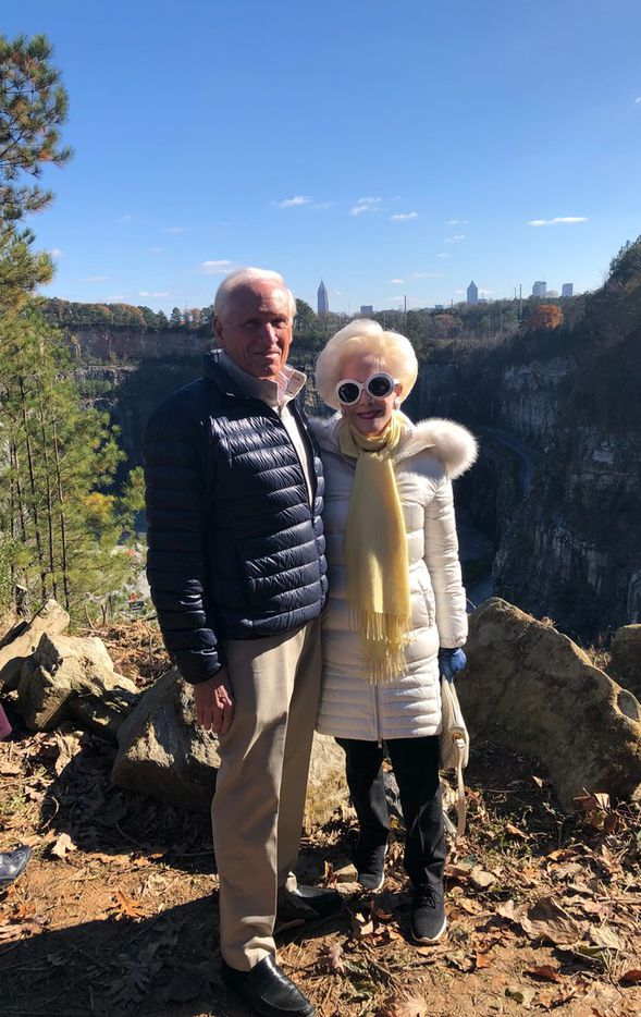 Jody and Sheila Grant at Westside Park at Bellwood Quarry in Atlanta   on Dec. 3.