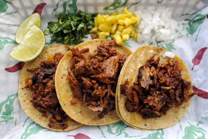 The el pastor tacos at El Tizoncito Taqueria in Oak Cliff are a favorite.
