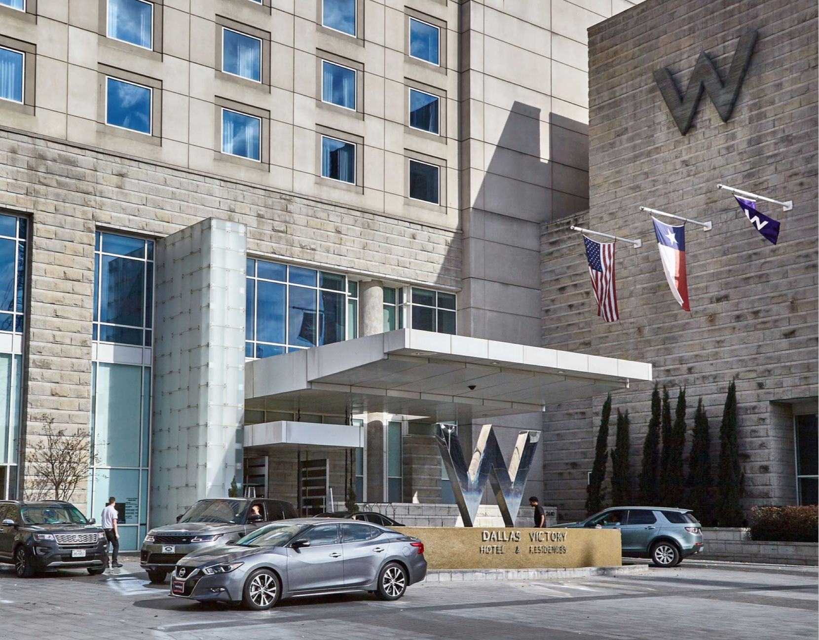 The W Dallas Victory Hotel was one of the first buildings in Victory Park.