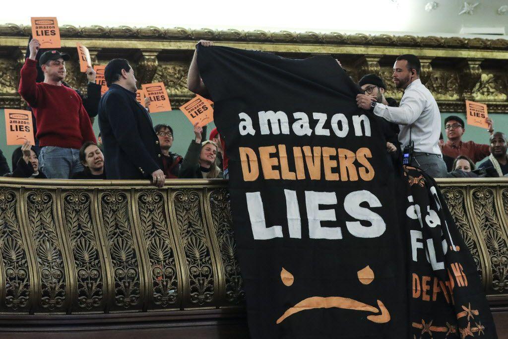 Grupos comunitarios de Queens rechazaron la llegada de Amazon porque creen que acelerará el desplazamiento urbano en ese sector. GETTY IMAGES