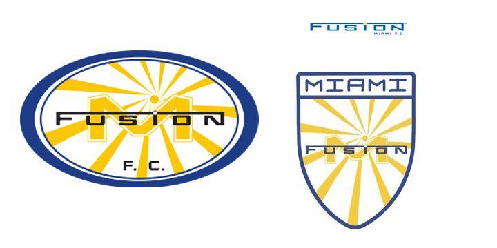 Miami Fusion FC logos.