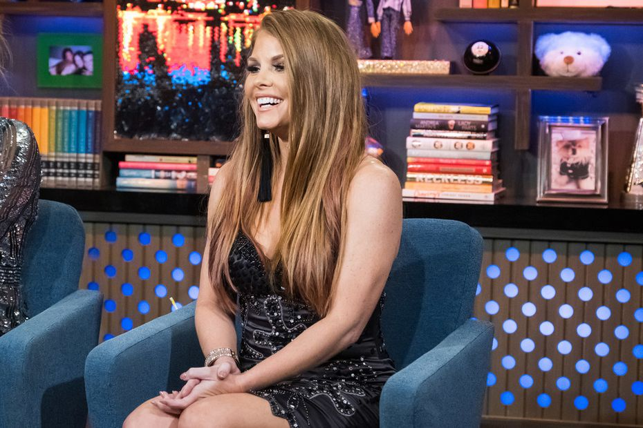 Brandi Redmond, pictured here on 'Watch What Happens Live with Andy Cohen' is the sixth member of 'The Real Housewives of Dallas.'