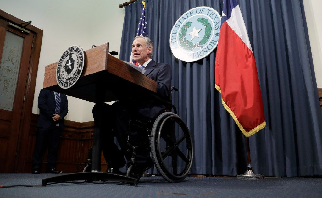 Texas Gov. Greg Abbott announces that there will be a special session of the Texas Legislature. (AP Photo/Eric Gay)
