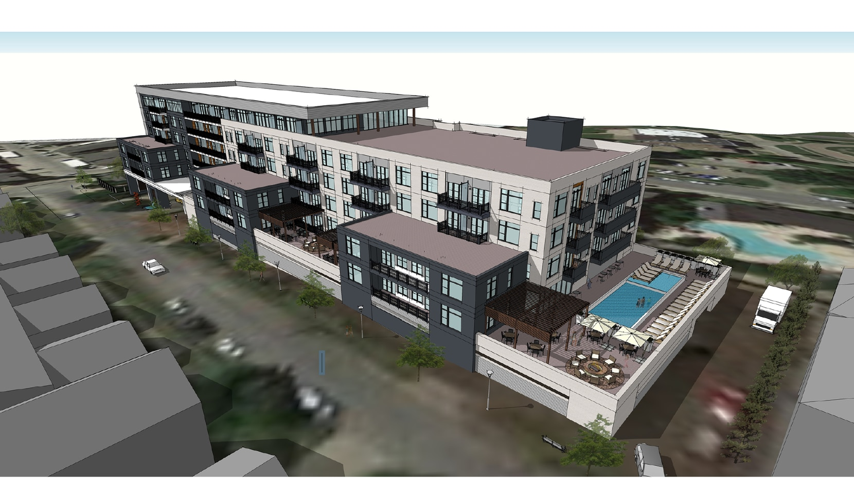 The Drake at White Rock Lake condo building will have 90 to 100 units.